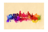 Miami  Florida - Skyline Abstract
