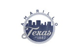 Amarillo  Texas - Skyline Seal (Blue)