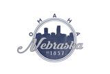 Omaha  Nebraska - Skyline Seal (Blue)