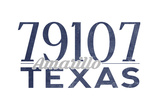 Amarillo  Texas - 79107 Zip Code (Blue)