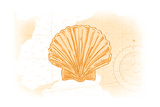 Scallop Shell - Yellow - Coastal Icon