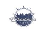 Tulsa  Oklahoma - Skyline Seal (Blue)