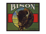 Bison Brand - Upland  California - Citrus Crate Label