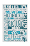 Illiopolis  IL - Let it Snow - Typography