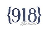 Tulsa  Oklahoma - 918 Area Code (Blue)