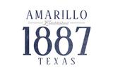Amarillo  Texas - Established Date (Blue)