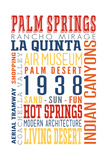 Palm Springs  California - Typography (Multi-Color)