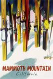 Mammoth Mountain  California - Colorful Skis