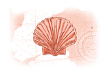 Scallop Shell - Coral - Coastal Icon