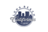 Long Beach  California - Skyline Seal (Blue)