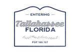 Tallahassee  Florida - Now Entering (Blue)