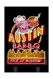 Austin  Texas - Neon BBQ Sign