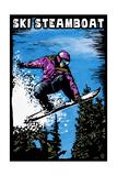 Ski Steamboat - Snowboarder - Scratchboard