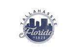 Tallahassee  Florida - Skyline Seal (Blue)