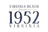 Virginia Beach  Virginia - Established Date (Blue)