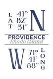 Providence  Rhode Island - Latitude and Longitude (Blue)
