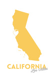 Los Altos  California - State Outline and Heart