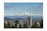 Portland  Oregon - Mt Hood and City