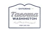 Tacoma  Washington - Now Entering (Blue)