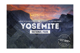 Yosemite National Park  California - Valley at Sunset Rubber Stamp