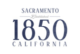 Sacramento  California - Established Date (Blue)