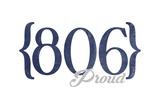 Amarillo  Texas - 806 Area Code (Blue)