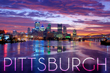 Pittsburgh  Pennsylvania - City Lights at Night