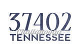 Chattanooga  Tennessee - 37402 Zip Code (Blue)