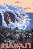 Hawaii - Lava Flow Scene