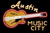 Austin  Texas - Neon Guitar Sign