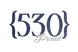 Sacramento  California - 530 Area Code (Blue)