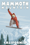 Mammoth Mountain  California - Snowboarder Jumping