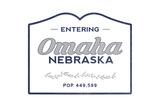 Omaha  Nebraska - Now Entering (Blue)