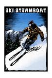 Ski Steamboat - Scratchboard Skier