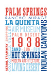 Palm Springs  California - Typography (Reds and Blues)