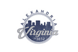 Alexandria  Virginia - Skyline Seal (Blue)