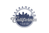 Sacramento  California - Skyline Seal (Blue)