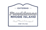 Providence  Rhode Island - Now Entering (Blue)