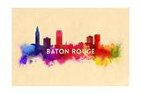 Baton Rouge  Louisiana - Skyline Abstract