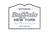 Buffalo  New York - Now Entering (Blue)