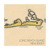 Long Beach Island  New Jersey - Vintage Map (square) 4 of 4