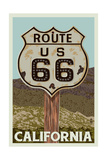 California - Route 66 - Letterpress