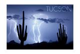 Tucson  Arizona - Blue Sky and Lightning