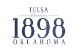 Tulsa  Oklahoma - Established Date (Blue)