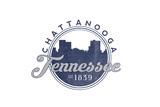 Chattanooga  Tennessee - Skyline Seal (Blue)