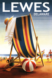 Lewes  Delaware - Beach Chair and Ball