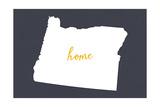 Oregon - Home State- White on Gray