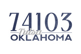 Tulsa  Oklahoma - 74103 Zip Code (Blue)