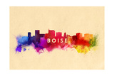 Boise  Idaho - Skyline Abstract