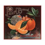 Pearl Brand - Kansas City  Missouri - Citrus Crate Label